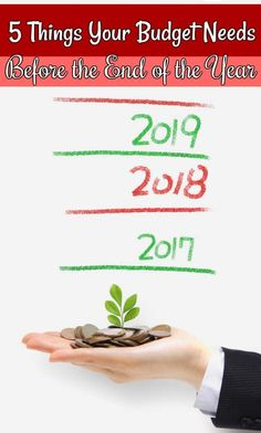 #AD Things your personal budget need before the end of the year - Don't start the New Year without a financial checkup! These 5 things your budget needs before the end of the year are the perfect way to kickstart your finances in 2018! #onupchallenge