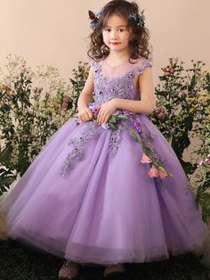 8f16db2b4e1 Handmade Flower Embroidery Tulle Fluffy Princess Long Dress