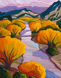 Porter, Elisabeth (Betsy) -Embudo NM : fine art prints from artists of the southwest Landscape Art, Landscape Paintings, Landscapes, Cool Paintings, Watercolor Paintings, Mexico Art, Mexico Style, Southwestern Art, Cool Art