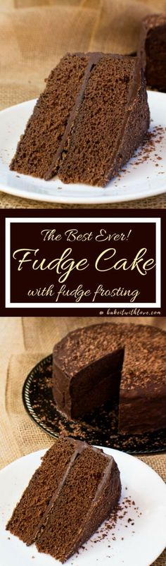 This perfectly rich chocolate Fudge Cake with Fudge Frosting is such a delightfully tasty any occasion cake that is easy to make and topped with an equally amazing fudge frosting!