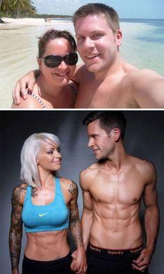 Antes y después de 15 parejas que se propusieron perder peso juntas. Esto realmente te va a motivar