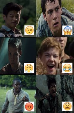 The maze runner emoji expressions!! Haha top right is funny :)