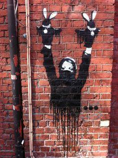 #Bunnypeace Oslo, Graffiti, Street Art, Clock, Halloween, Decor, Watch, Decoration, Dekoration