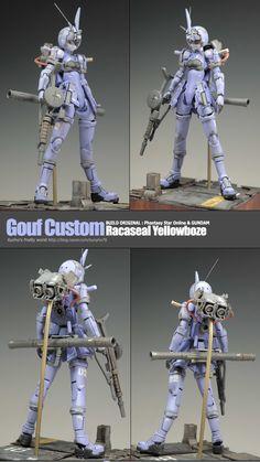 Gouf Custom [Racaseal Yellowboze] - Custom Build     Modeled by kunyho78