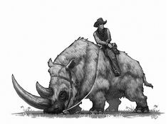 been looking forward to getting around to adding a wooly rhino to the series. Another Wild West prehistoric beast. Dinosaur Drawing, Dinosaur Art, Fantasy Creatures, Mythical Creatures, West Art, Extinct Animals, Prehistoric Creatures, Monster Art, Creature Design