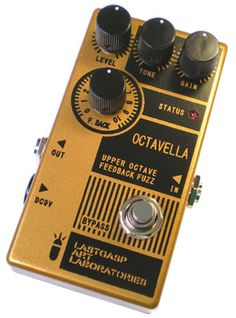 """""""The Octavella (OC) is an upper octave fuzz pedal which creates fuzzy harmonic upper octave sound. Characterized by 'screaky' metallic tone. The 'OC' can feedback the upper octave sound internally to get a feedback sound. Also it can create a self oscillating sound.""""Condition: Brand new! Never ..."""