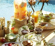 Pottery Barn tropical table