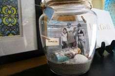 Vacation memories jar, beautiful way to remember your family's trip to the beach