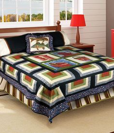 """""""Weekend at the Lake"""" by Christine Stainbrook (from Quilt Trends Fall 2012 issue)"""