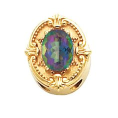 14k+Yellow+or+White+Gold+Mystic+Topaz+Victorian+Bracelet+Slide+81005mystic #victorianbraceletslide #alexandrite