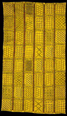Africa | Adinkra cloth from the Asante people of Ghana | Cloth and pigment