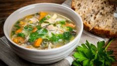 10 Yummy Vegetable Diet Soup Recipes For Weight Loss Vegetable Soup With Chicken, Vegetable Soup Recipes, Chicken And Vegetables, Veg Soup, Onion Vegetable, Vegetable Quinoa, Vegetable Stock, Chicken Rice, Roast Chicken