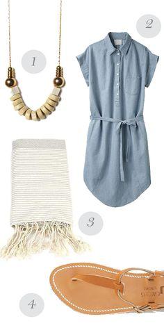 love the denim dress