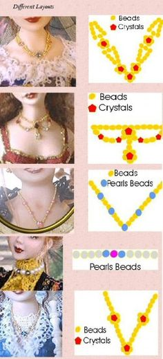 """While this tutorial for making jewelry is directed toward miniature doll, the techniques will work just as well in making jewelry for 18"""" dolls.  Lot of good info."""