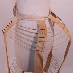 Victorian Antique Crinoline Wire Hoop Cage Bustle Back Petticoat Under Skirt - detail