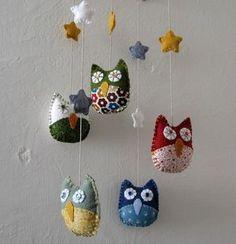 felt owls Mobile