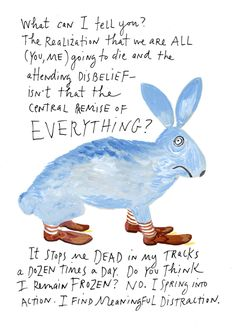 Maira Kalman on Identity, Happiness, and Existence | Brain Pickings. (I might want to BE Maira Kalman)