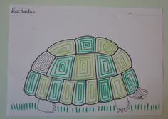 graphisme sur la carapace de la tortue Cursive, Reptiles, Education, Continents, Turtle, Images, School, Turtles, Literatura