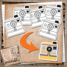 U printables by RebeccaB: FREE Printable - Black and White Polaroid Cameras