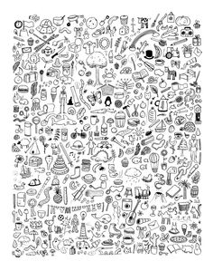 Doodlies Giclee Print by katiegreen