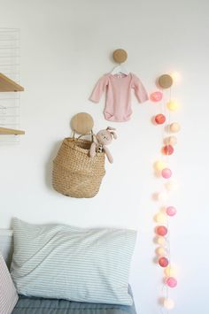 Nursery tour   Muuto Dots coat hooks and Cable and Cotton lights   Apartment Apothecary