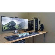 """""""Here's a simple and elegant setup found from @bestgamingsetupz. I just love ultra wide setups! I think this guy did everything right in this setup. One…"""""""