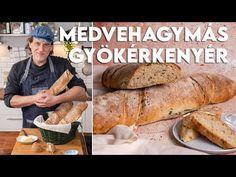 (477) Péksuli Szabival: Medvehagymás gyökérkenyér   Mindmegette.hu - YouTube Ethnic Recipes, Youtube, Food, Breads, Bread Rolls, Essen, Bread, Meals, Braided Pigtails