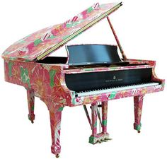 Lilly Pulitzer 50th Anniversary Jubilee Steinway & Sons grand piano