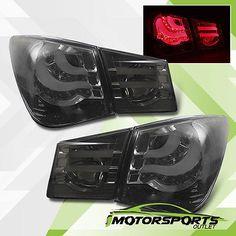 11-13 Chevy Cruze Red LED Smoke Rear Brake Lights  (Fits:2012 Chevrolet Cruze)
