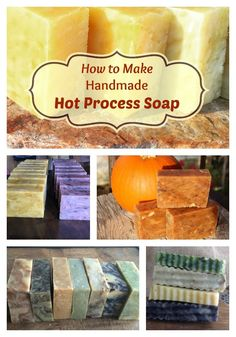 Have you ever wanted to try making your own natural soap? Here is a detailed hot process photo tutorial! If you've every wanted to learn how to make natural soap of your own, you've got to check out these complete directions! Hot process soap is fast to make, and the soap turns out beautifully! The essential oil scents last a long time, too! Basically, you alleviate the curing time so you can use it right away! It's more rustic in appearance---very pretty. Here's how to get started making yo