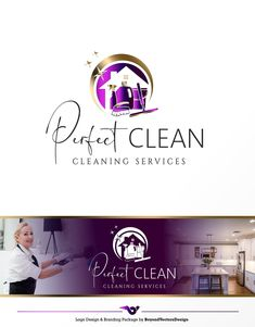 Cleaning logo, House Cleaner Logo, Premade Housekeeper Logo, Cleaning Service Branding, Maid Logo, Cleaning business logo, Housemaid logo447