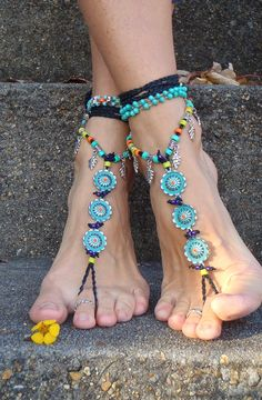 Bohemian Hippie Barefoot SANDALS (for me since I love to wear no shoes) :]