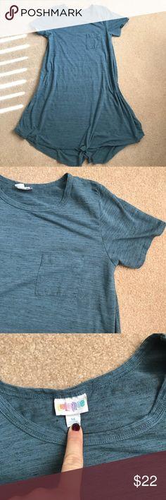 {LuLaRoe} Carly Dress - Blue - Medium Heathered blue/ teal Carly dress. Great condition!! Dresses