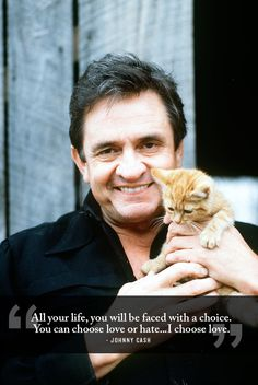 Life-Affirming Words Of Wisdom From Johnny Cash Be kind. Johnny And June, Johnny Cash June Carter, Beatles, Johnny Cash Quotes, Choose Love, My Love, Great Quotes, Inspirational Quotes, Random Quotes