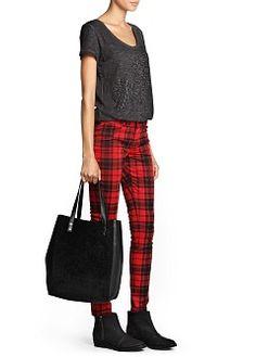 MANGO - PRENDAS - NUEVA COLECCIÓN - Pantalones - Pantalón elástico cuadro escocés