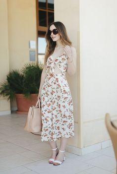 Floral culotte jumpsuit with gorgeous cut out detail.