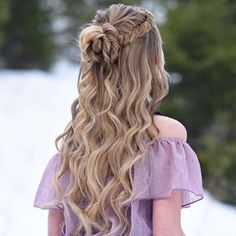 glamorous and timeless wedding hair half up half down hairstyles; wedding hairstyles trendy hairstyles and colors wedding hairstyles half up half down; wedding hairstyles for long hair; Grad Hairstyles, Dance Hairstyles, Elegant Hairstyles, Hairstyle Ideas, Easy Hairstyles, Semi Formal Hairstyles, Curled Hairstyles For Prom, Hair Ideas, Beautiful Hairstyles