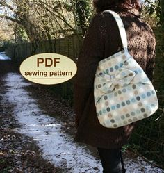Sewing pattern to make the Village Post Bag   PDF by charliesaunt