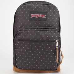 JanSport Right Pack Polka Dot Backpack featuring polyvore fashion bags backpacks jansport rucksack bag laptop rucksack dot bag backpacks bags