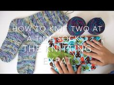 How to knit the heel of the easiest sock in the world - by ARNE&CARLOS. PART 2. - YouTube