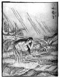 姑獲鳥(うぶめ)、鳥山石燕「画図百鬼夜行」より