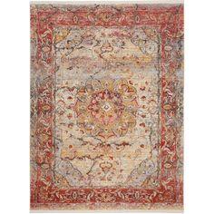 Safavieh Vintage Persian Pink/ Multi Polyester Rug (4' x 6')