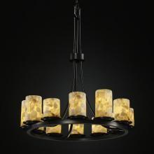 Justice Design Group ALR-8763-10-MBLK - Dakota 12-Light Ring Chandelier (Tall) 72 l 31 h 20 w