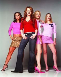 Film Title: Mean Girls/Lindsay Lohan, Rachel McAdams, Lacey Chabert & Amanda Seyfried. Copyright: TM&Copyright by Paramount Pictures. All Rights Reserved. For further information: please contact your local UIP Press Office. Mean Girls Day, Mean Girls Outfits, Mean Girls Movie, Mean Girls Trivia, Mean Girls Costume, Girl Costumes, Halloween Costumes, Mean Girls Halloween, Movie Costumes