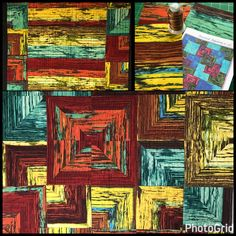 Shop sample for Artistic Artifacts using pattern and fabric from Frond Design Studios and WonderFil thread for quilting