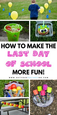 As a matter of fact I give you creative ways to make your son or daughter's last day of school memorable! Find ways to make moving up another grade started off on the right track! Kick start summer with an awesome pool party back to school sign and more! Last Day Of School Fun, End Of School Year, After School, End Of Year Party, Back To School Party, School Parties, School Leavers, School Signs, Fun Activities For Kids