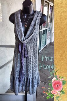 Free People Knit dress, Size M - We love everything Free People! This is one adorable knit dress to add to your spring wardrobe!  #freepeople #Socute #Boho #spring #socute #ShopPosh