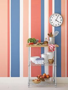 5 Ways to Paint Stripes on Walls | Interior Design Styles and Color Schemes for Home Decorating | HGTV