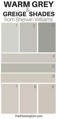 9 Amazing Warm Gray Paint Shades from Sherwin Williams warm gray and greige paint shades from Sherwin Williams Greige Paint Colors, Bedroom Paint Colors, Paint Colors For Living Room, Interior Paint Colors, Paint Colors For Home, Neutral Paint, Interior Painting, Gray And Taupe Living Room, Interior Design