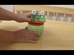 Recycled Project Ideas for Kids: Funny Frog From Plastic Bottle